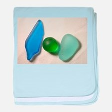 Blue Sea Glass with Green Sea Glass Sphere baby bl