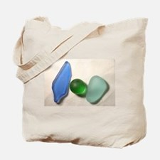 Blue Sea Glass with Green Sea Glass Sphere Tote Ba