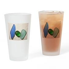 Blue Sea Glass with Green Sea Glass Sphere Drinkin