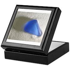 Blue Sea Glass Keepsake Box