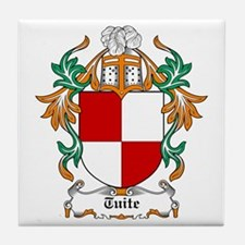 Tuite Coat of Arms Tile Coaster