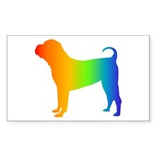 Chinese Shar Pei Rectangle Decal