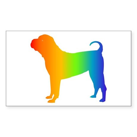 Chinese Shar Pei Rectangle Sticker