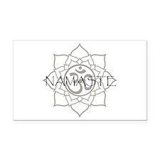 Namaste Om Rectangle Car Magnet