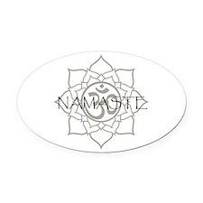Namaste Om Oval Car Magnet