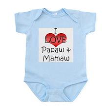I Love Papaw & Mamaw Infant Creeper