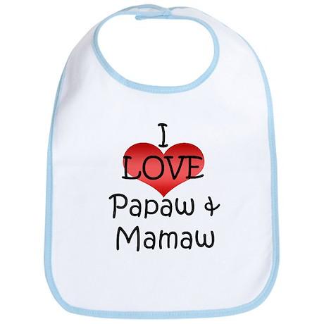 I Love Papaw & Mamaw Bib