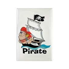 Pirate Boat Rectangle Magnet