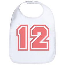 Varsity Uniform Number 12 (Pink) Bib