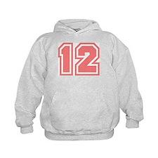 Varsity Uniform Number 12 (Pink) Hoodie