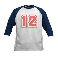 Varsity Uniform Number 12 (Pink) Tee