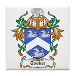 Tooker Coat of Arms Tile Coaster