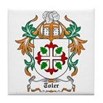 Toler Coat of Arms Tile Coaster