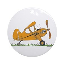 Cub Airplane Ornament (Round)