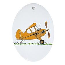 Cub Airplane Ornament (Oval)