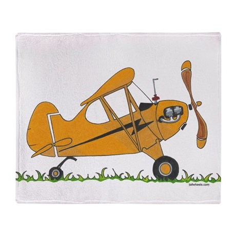 Cub Airplane Throw Blanket