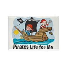 Pirates Life For Me Rectangle Magnet