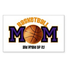 Basketball Mom Rectangle Decal