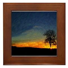 Sunrise On Mount Diablo Framed Tile