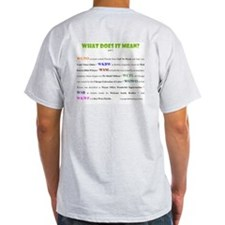 Radio Station Names Ash Grey T-Shirt