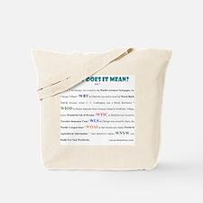 Radio Station Names Tote Bag