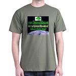 """Cosmic Green"" Black T-Shirt"
