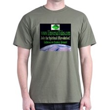 """Cosmic Green"" Black T-Shirt"