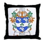 Swan Coat of Arms Throw Pillow