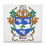 Swan Coat of Arms Tile Coaster