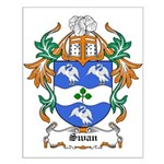 Swan Coat of Arms Small Poster