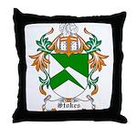 Stokes Coat of Arms Throw Pillow