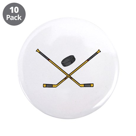 "Hockey 3.5"" Button (10 pack)"