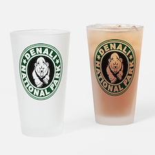 Denali Green Circle Drinking Glass