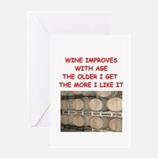 WINE.png Greeting Card