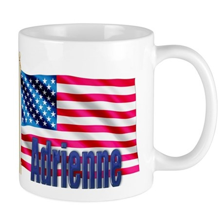 Adrienne Personalized USA Flag Mug