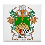 Shanly Coat of Arms Tile Coaster