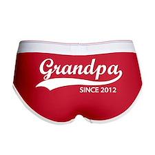 Grandpa since 2012 Women's Boy Brief