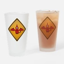 Pterodactyl Warning Sign Drinking Glass