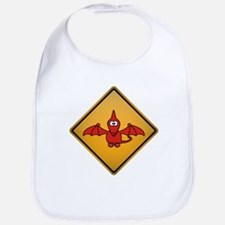 Pterodactyl Warning Sign Bib