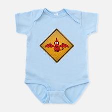 Pterodactyl Warning Sign Infant Bodysuit