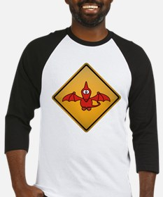 Pterodactyl Warning Sign Baseball Jersey