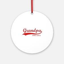 Grandpa since 2012 Ornament (Round)