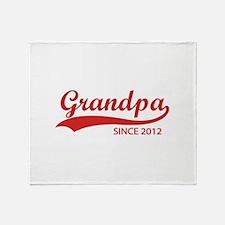 Grandpa since 2012 Throw Blanket