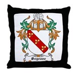 Segrave Coat of Arms Throw Pillow