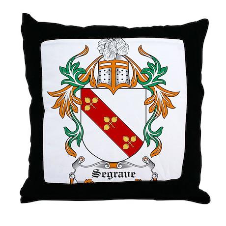 Segrave Coat of Arms Throw Pillow