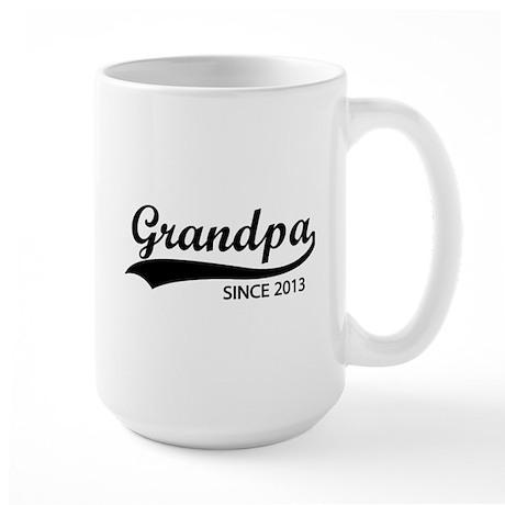 Grandpa since 2013 Large Mug