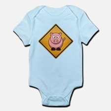 Pig Warning Sign Infant Bodysuit