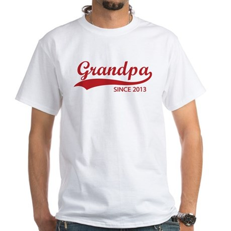 Grandpa since 2013 White T-Shirt