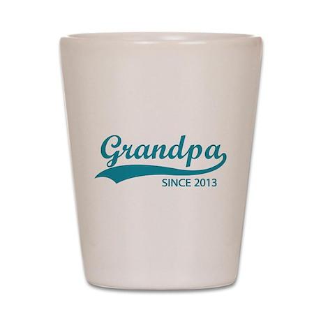 Grandpa since 2013 Shot Glass