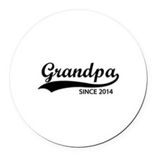 Grandpa since 2014 Round Car Magnet